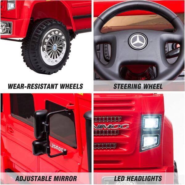 6V Mercedes Benz Unimog U500 Kids Ride on SUV Car with Remote Control, Red 2 91