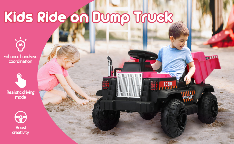 Electric Ride-on Dump Truck Toy with Remote 2 94