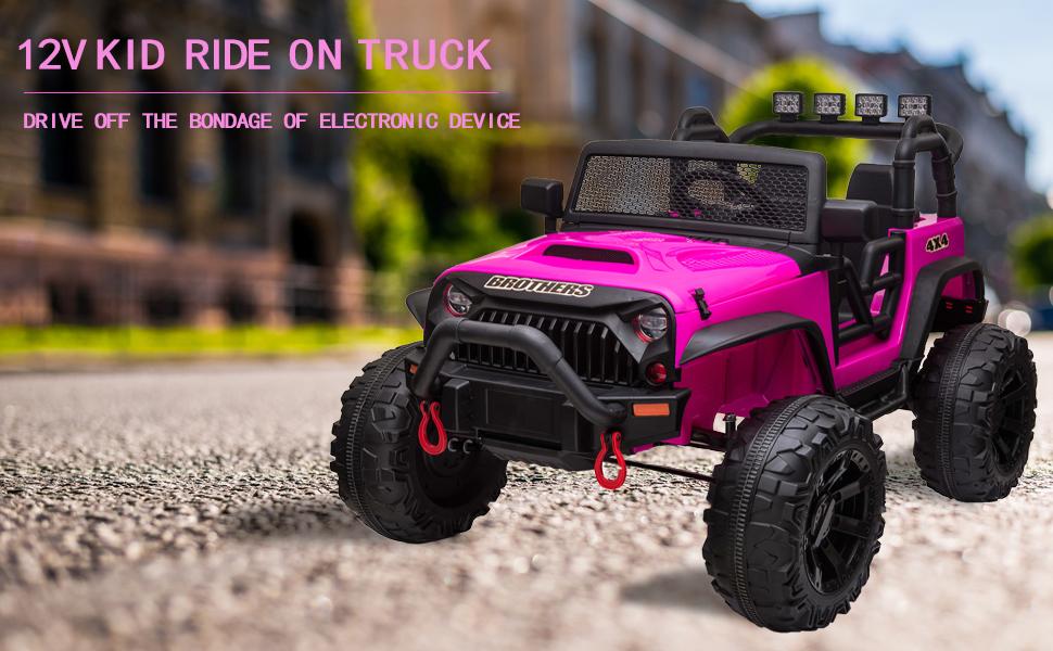 12V Powerful Ride On Truck Jeep Wrangler for Kids 2 96