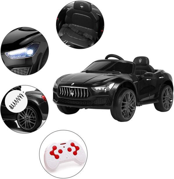 Maserati Kids Car 12V Ride On With Remote, Black 2 98