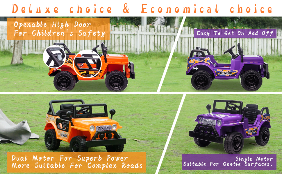 Battery Powered Kid's Car Truck with Double Doors, 12V 21 4