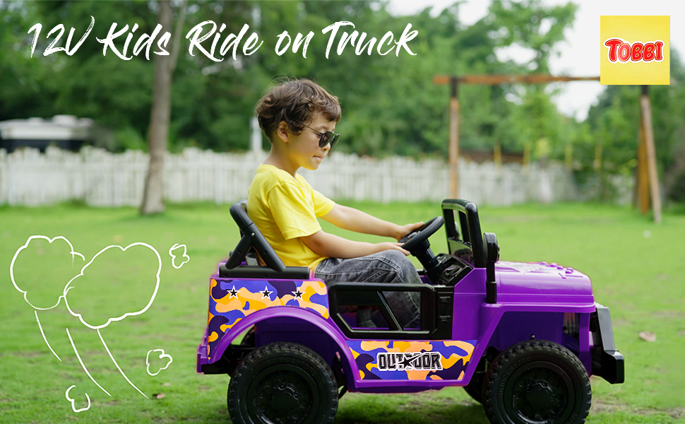 Electric Ride On Truck Toy for Kids with Horn, 12V 23 2