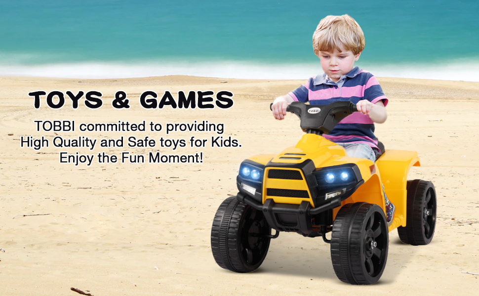 Four Wheeler Electirc Ride On Quad ATV For Kids, Yellow 23