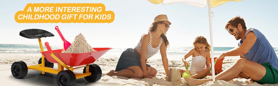 Outdoor Kids Play Wheelbarrow, Red 25 1
