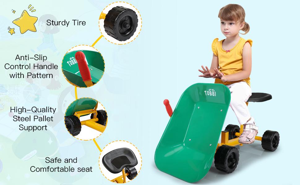 Outdoor Kids Play Wheelbarrow, Green 27 1