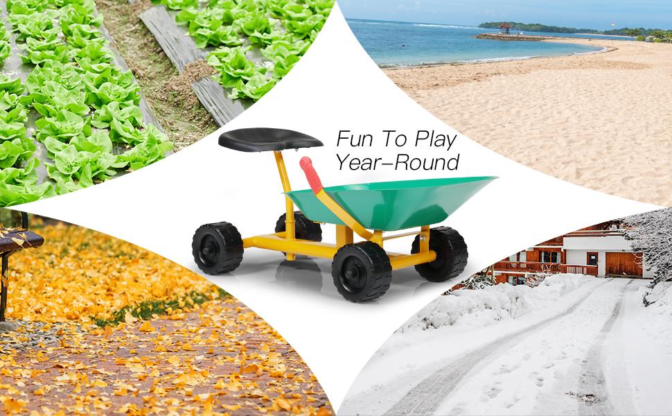 Outdoor Kids Play Wheelbarrow, Green 29 1
