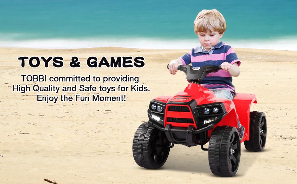 Four Wheeler Electirc Ride On Quad ATV For Kids, Red 29