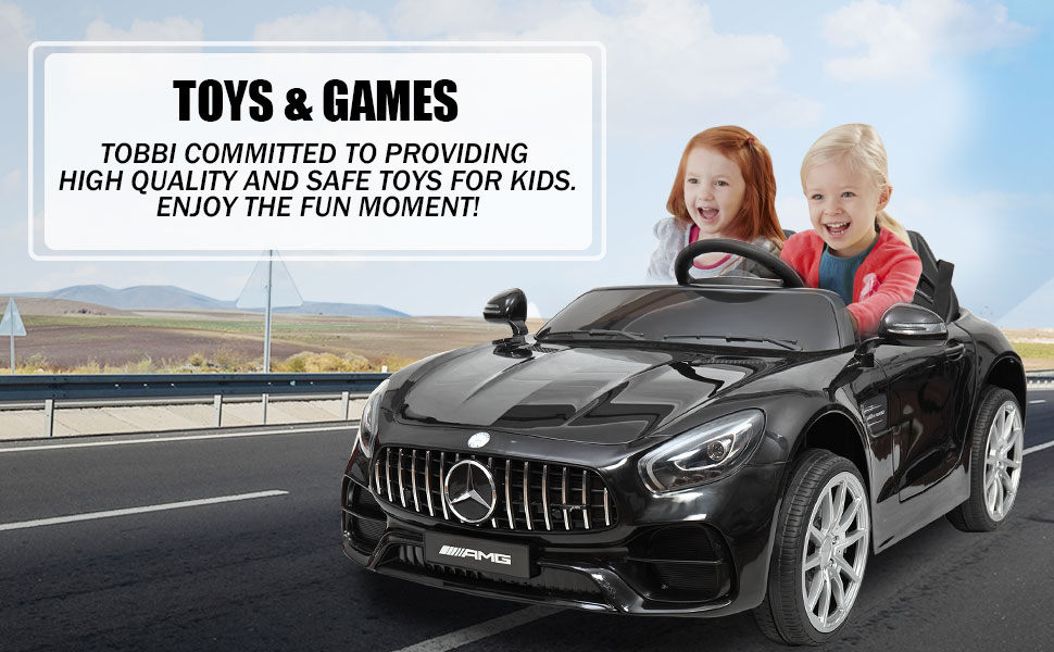 Mercedes Benz Licensed 12V Kids Electric Ride On Car with 2 Seater, Black 29b1ec22 ce12 426d b01b d69fdb70ec8e. CR00970600 PT0 SX970 V1