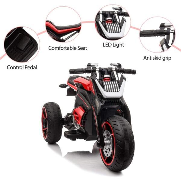 12V Kids Motorcycle Toy 3 Wheels Electric Trike 3 1 1