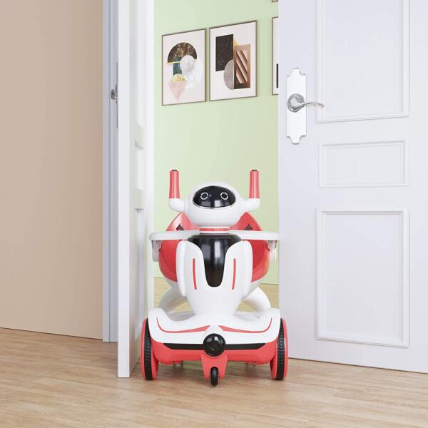 Three-in-one Robot Kids Electric Buggy With Baby Carriages, Red + White 3 13