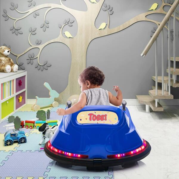 6V Electric Baby Bumper Car with Remote Control, Dark Blue 3 23