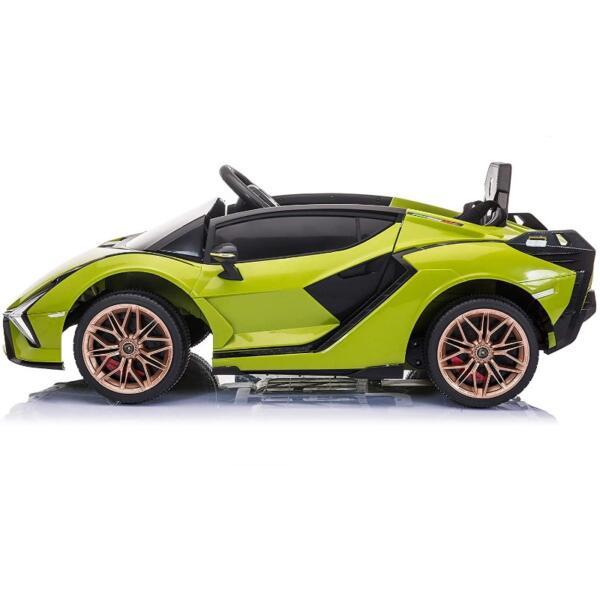12V Licensed Lamborghini Sian Children's Electric Ride On Car, Green 3 40