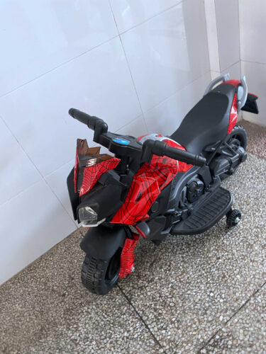 6V Red Motorcycle toy for Kids W/ Toolbox photo review