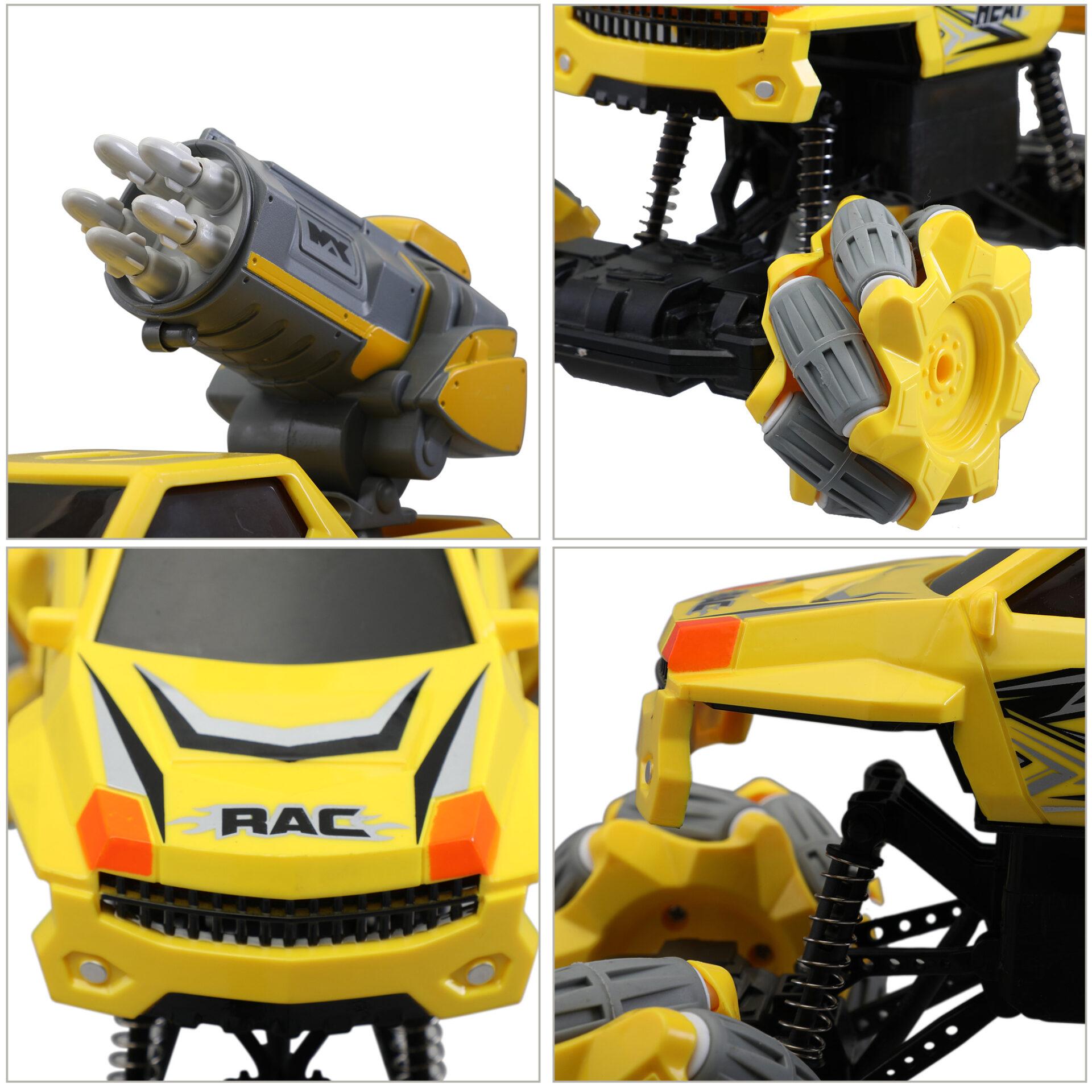 Gesture Sensing RC Stunt Car for Kids, Yellow 3 5