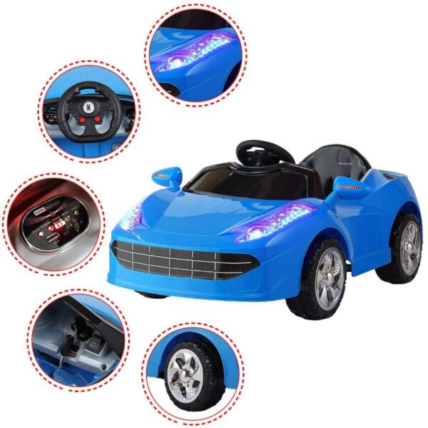 6V Kids Ride-on Sports Car Rechargeable Toy Vehicle 3 56