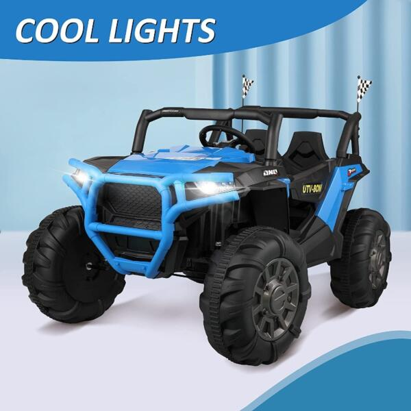 12V Powerful Kids Truck Ride on 2-Seater Battery Car for Child 3 57