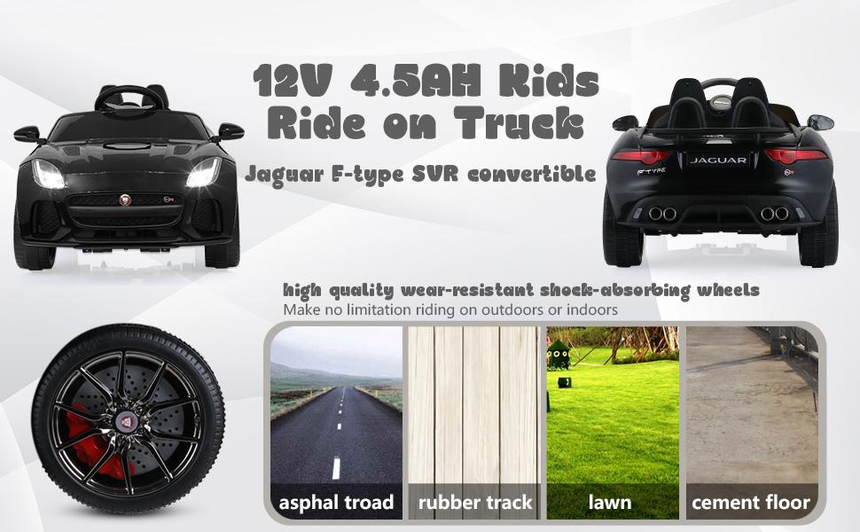12V Kids Electric Ride on Car Toy Jaguar F-Type SVR 3 58