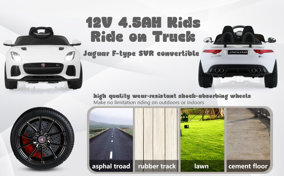 12V Battery Powered Ride-on Jaguar F-Type SVR Car Toy 3 65