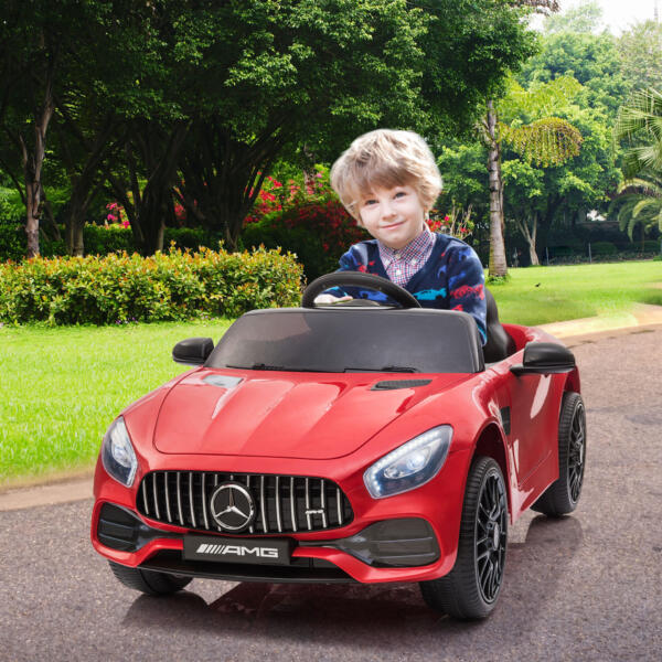 12V Mercedes AMG GT Ride On Car Kids Electric Cars with Remote, Red 3 73