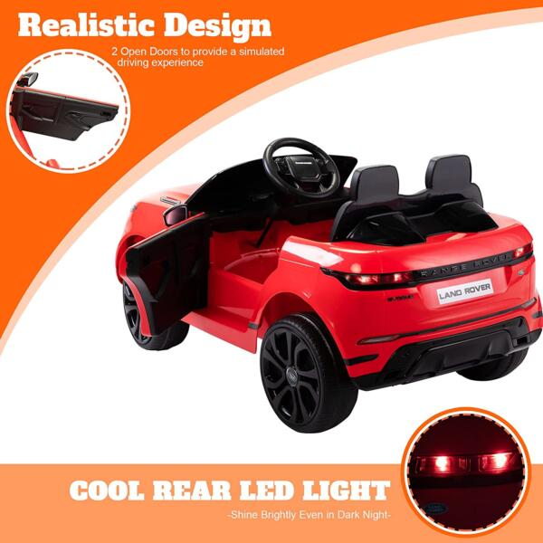 12V Land Rover Kids Power Wheels Ride On Toys With Remote, Red 3 76