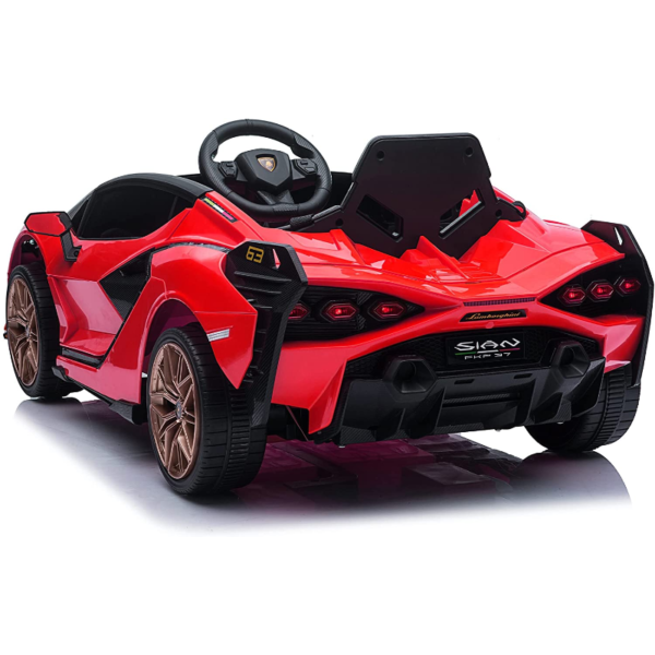 12V Lamborghini Sian Electric Kids Ride On Car with Remote Control, Red 3 8