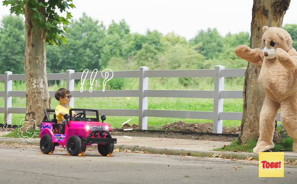 12V Kid's Ride On Truck Off-Road Vehicle W/ Double Doors 3 91