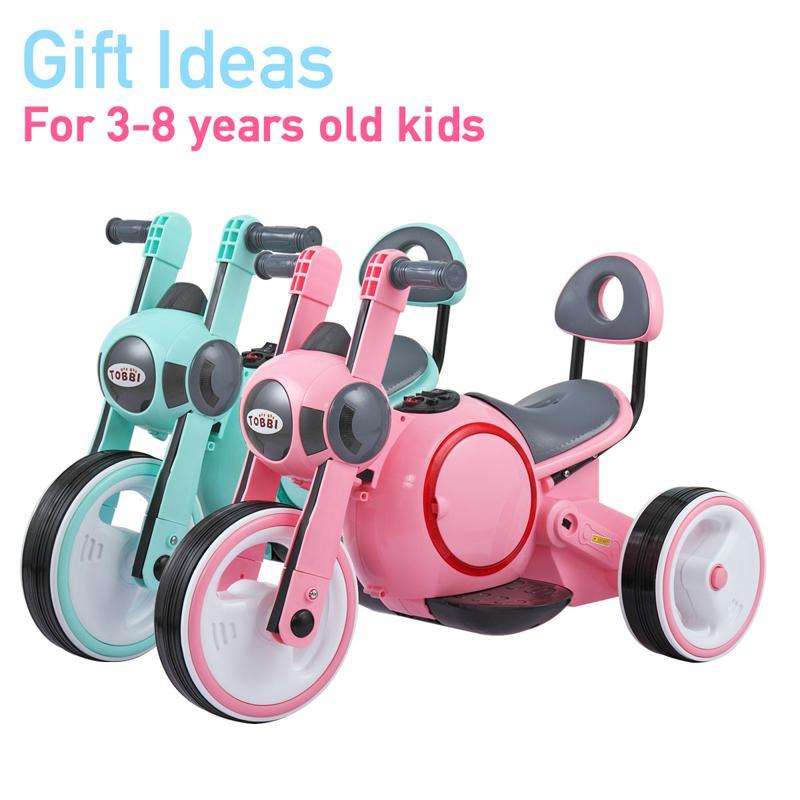 6V Motorcycle Trike for Toddler W/ 3 Wheel 3 wheel led motorcycle trike for toddler blue 11