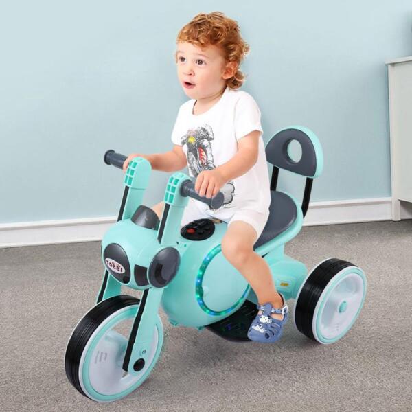 3 Wheel Led Motorcycle Trike for Toddler, Blue 3 wheel led motorcycle trike for toddler blue 13