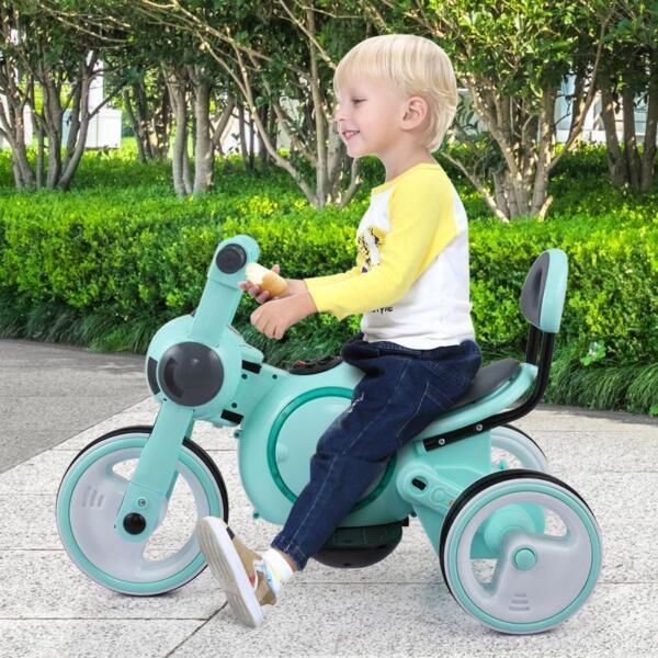 3 Wheel Led Motorcycle Trike for Toddler, Blue 3 wheel led motorcycle trike for toddler blue 16