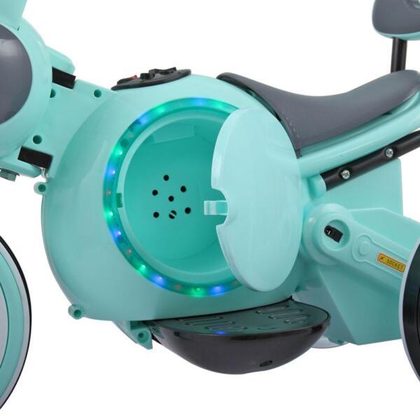 3 Wheel Led Motorcycle Trike for Toddler, Blue 3 wheel led motorcycle trike for toddler blue 21