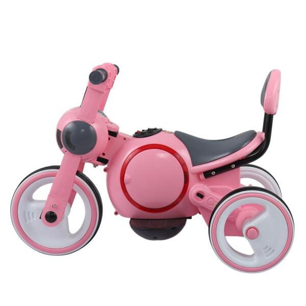 3 Wheel Motorcycle Trike for Toddler W/ LED 3 wheel led motorcycle trike for toddler pink 10