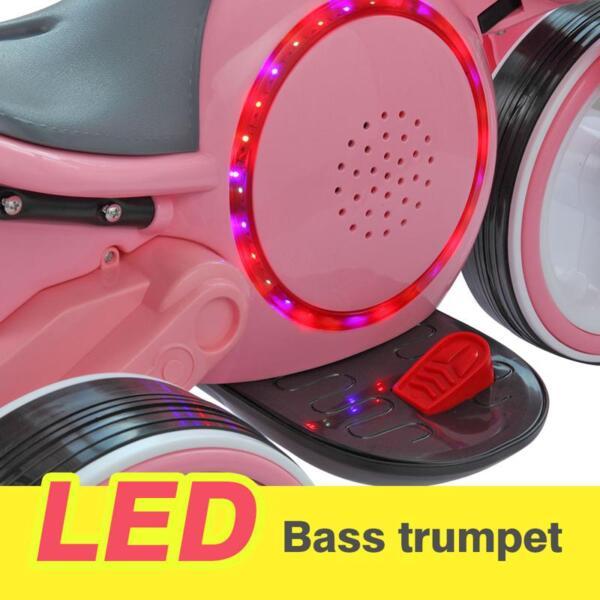 3 Wheel Motorcycle Trike for Toddler W/ LED 3 wheel led motorcycle trike for toddler pink 13