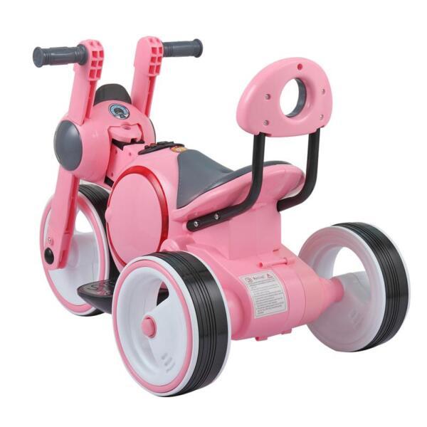 3 Wheel Motorcycle Trike for Toddler W/ LED 3 wheel led motorcycle trike for toddler pink 16 1