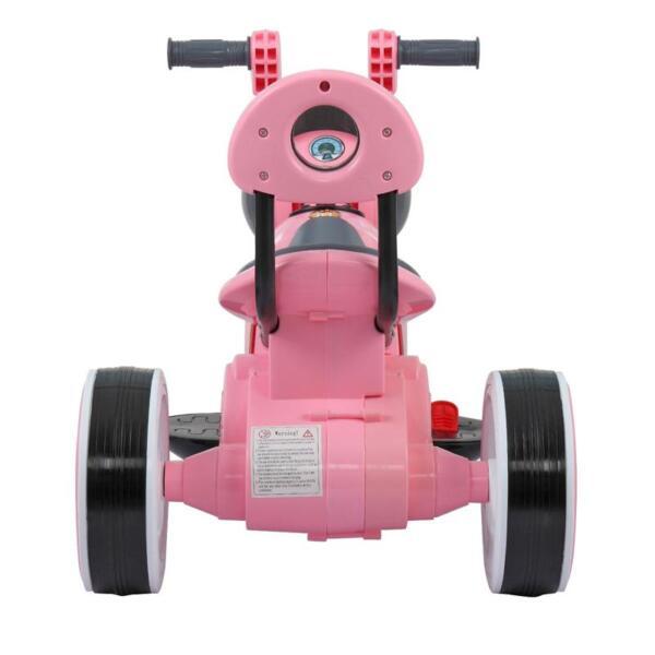 3 Wheel Motorcycle Trike for Toddler W/ LED 3 wheel led motorcycle trike for toddler pink 17