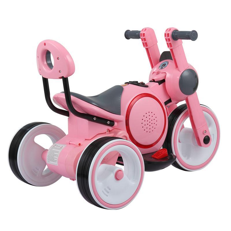 3 Wheel Motorcycle Trike for Toddler W/ LED 3 wheel led motorcycle trike for toddler pink 18