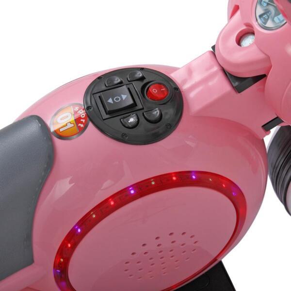 3 Wheel Motorcycle Trike for Toddler W/ LED 3 wheel led motorcycle trike for toddler pink 19 1
