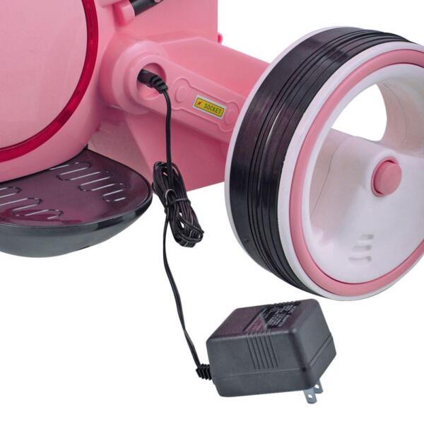 3 Wheel Motorcycle Trike for Toddler W/ LED 3 wheel led motorcycle trike for toddler pink 22