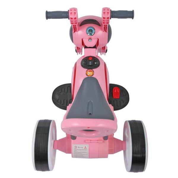 3 Wheel Motorcycle Trike for Toddler W/ LED 3 wheel led motorcycle trike for toddler pink 4