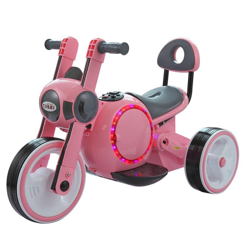 3 Wheel Motorcycle Trike for Toddler W/ LED 3 wheel led motorcycle trike for toddler pink 6 1