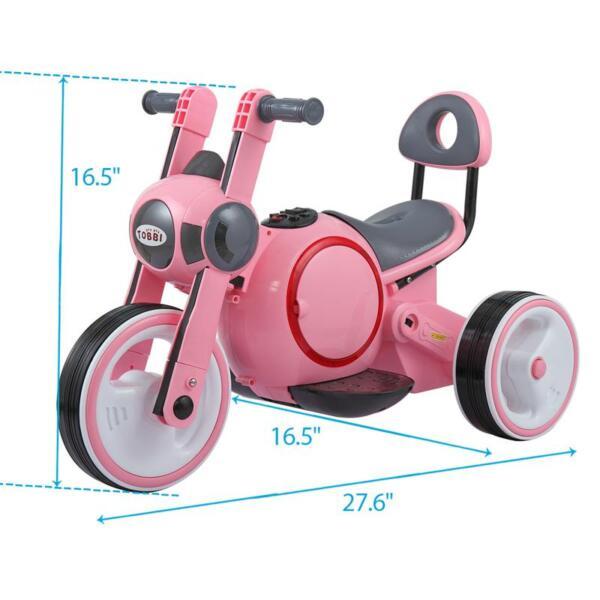 3 Wheel Motorcycle Trike for Toddler W/ LED 3 wheel led motorcycle trike for toddler pink 8