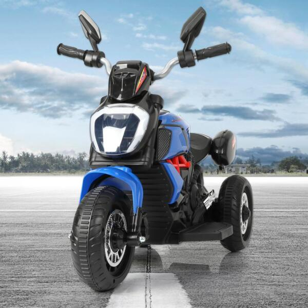 3 Wheel Motorcycle for Kids, Blue 3 wheeled motorcycle blue 10