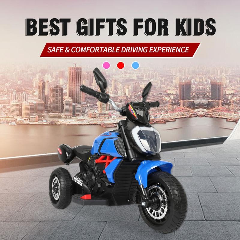 3 Wheel Motorcycle for Kids, Blue 3 wheeled motorcycle blue 14