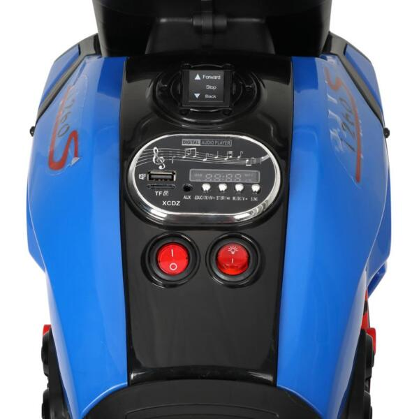 3 Wheel Motorcycle for Kids, Blue 3 wheeled motorcycle blue 18