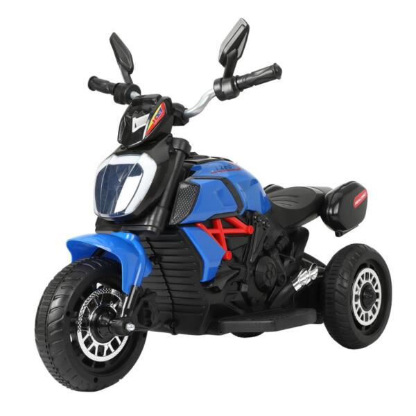 3 Wheel Motorcycle for Kids, Blue 3 wheeled motorcycle blue 2