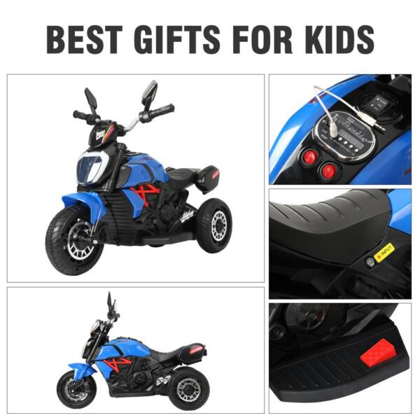 3 Wheel Motorcycle for Kids, Blue 3 wheeled motorcycle blue 27