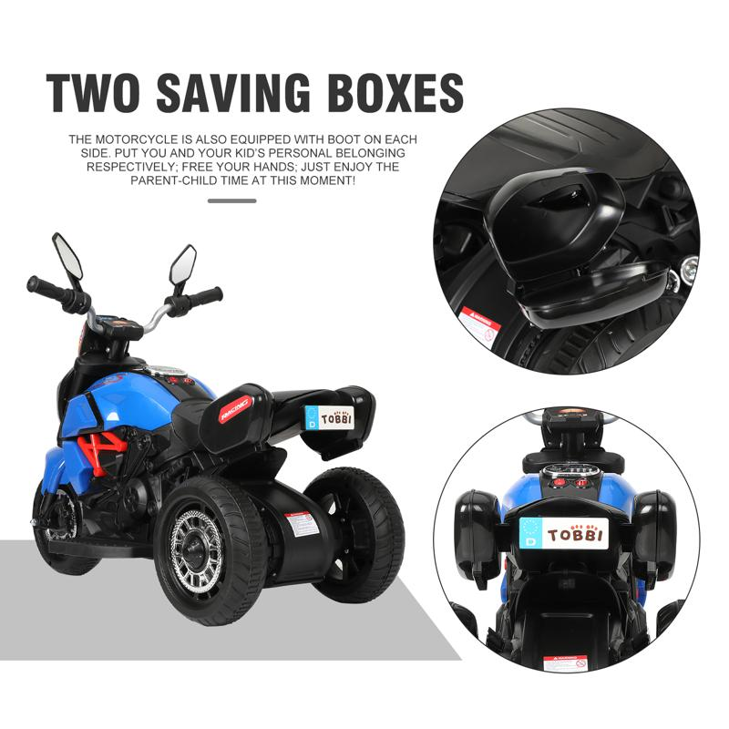 3 Wheel Motorcycle for Kids, Blue 3 wheeled motorcycle blue 28 2