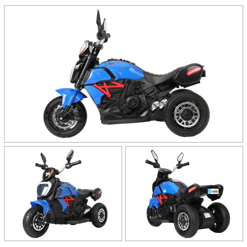 3 Wheel Motorcycle for Kids, Blue 3 wheeled motorcycle blue 33