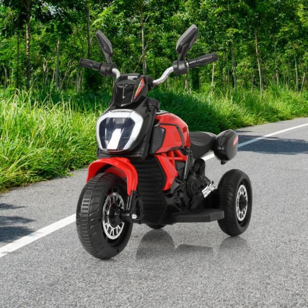 3-Wheeled Motorcycle, Red 3 wheeled motorcycle red 12