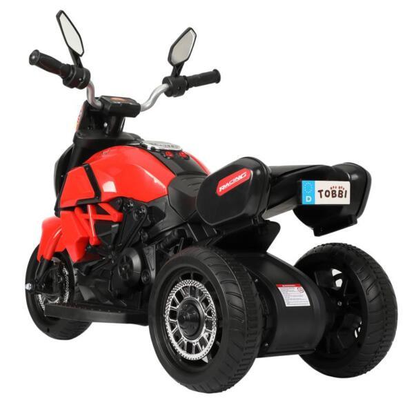 3-Wheeled Motorcycle, Red 3 wheeled motorcycle red 2