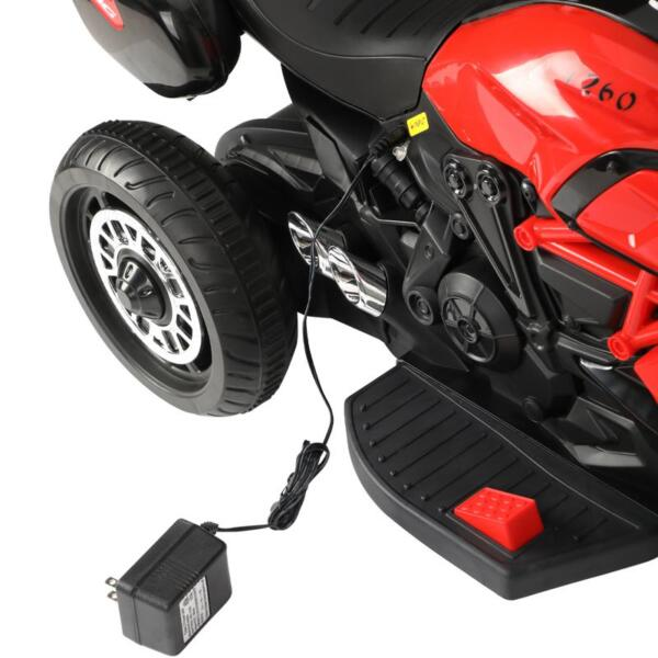 3-Wheeled Motorcycle, Red 3 wheeled motorcycle red 21